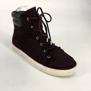 Joie Womens Size 36 High Top Lace Up Sneaker